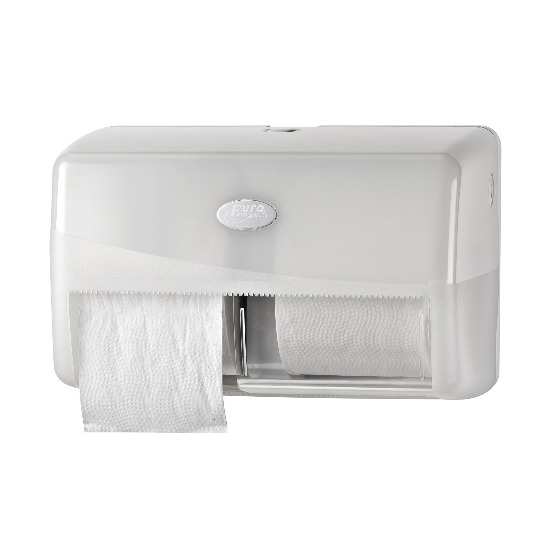 Pearl White Duo toiletrolhouder compact