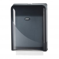 Ewepo Pearl Black handdoekdispenser voor interfolded/z-vouw