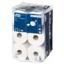 Tork SmartOne mini toiletpapier, 2laags, wit 12 rol