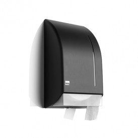 Satino Black jumbo toiletrol dispenser