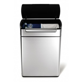 Afvalbak Rectangular Touch-Bar Bin 2x24L
