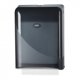Pearl Black handdoekdispenser voor interfolded/ z-vouw