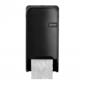 Groveko Quartz Black doppenroldispenser