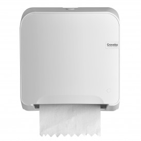 Groveko Quartz White Mini Matic XL handdoekdispenser