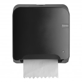 Groveko Quartz Black mini matic XL handdoekdispenser