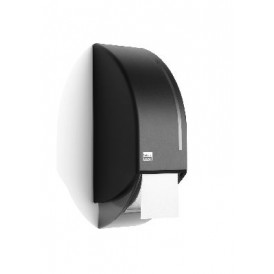 Satino Black systeemtoiletroldispenser zwart