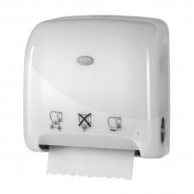 Ewepo Pearl White Mini Matic XL Handdoekroldispenser