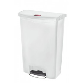 Rubbermaid Step on Slim Jim pedaalemmer 90 liter wit