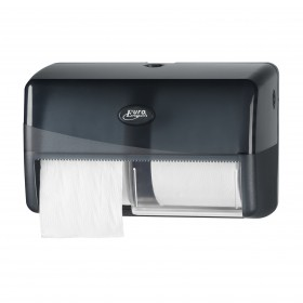 Pearl Black Duo toiletrolhouder compact