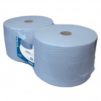 Euro industrierol - blauw - 1 laags - recycled